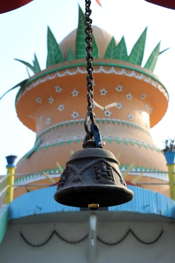 Huvudsaklig kupol av Ganesh Mandir royaltyfri fotografi