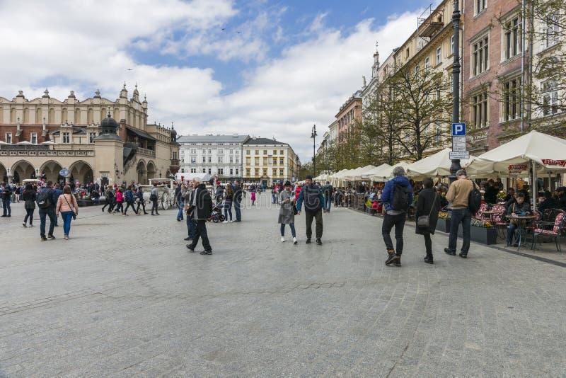 Huvudsaklig marknadsfyrkant Krakow fotografering för bildbyråer