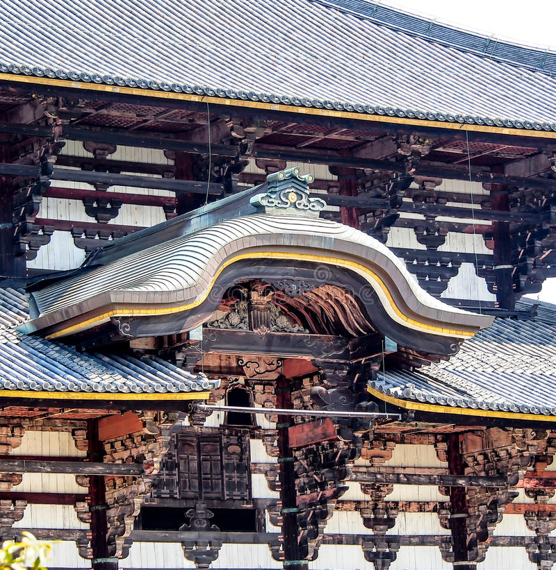 Huvudsaklig paviljong av den Todaiji templet, Nara, Japan 2 arkivfoton
