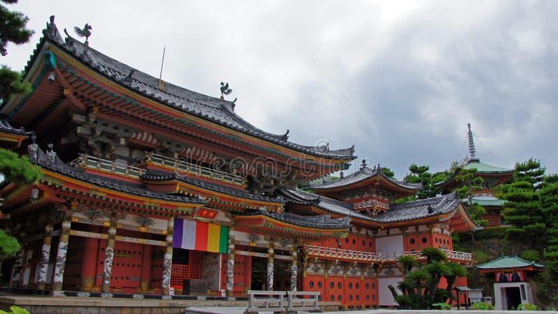 Huvudsakliga Hall av Kosanji Temple i Japan arkivfoton