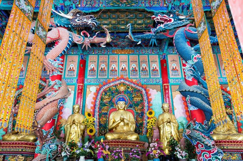 Huvudsal i Yuantong-templet arkivbilder