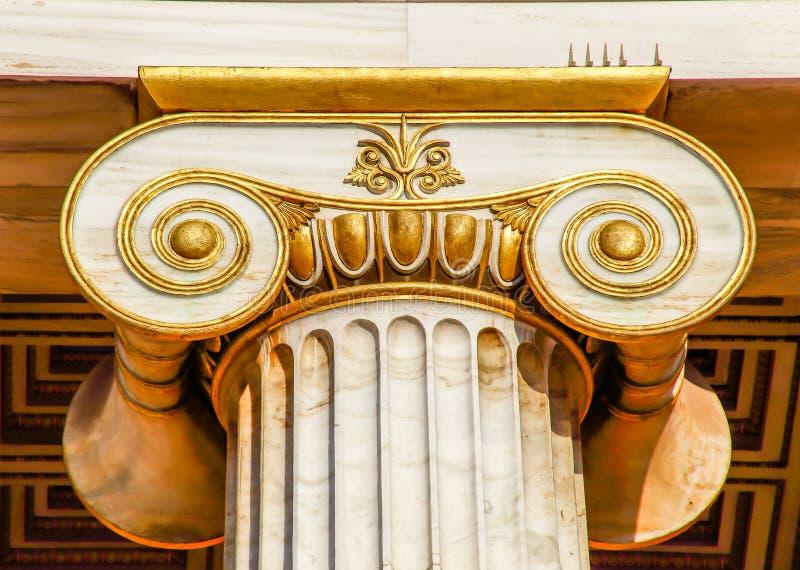 Huvudstad av den ionian kolonnen royaltyfri bild