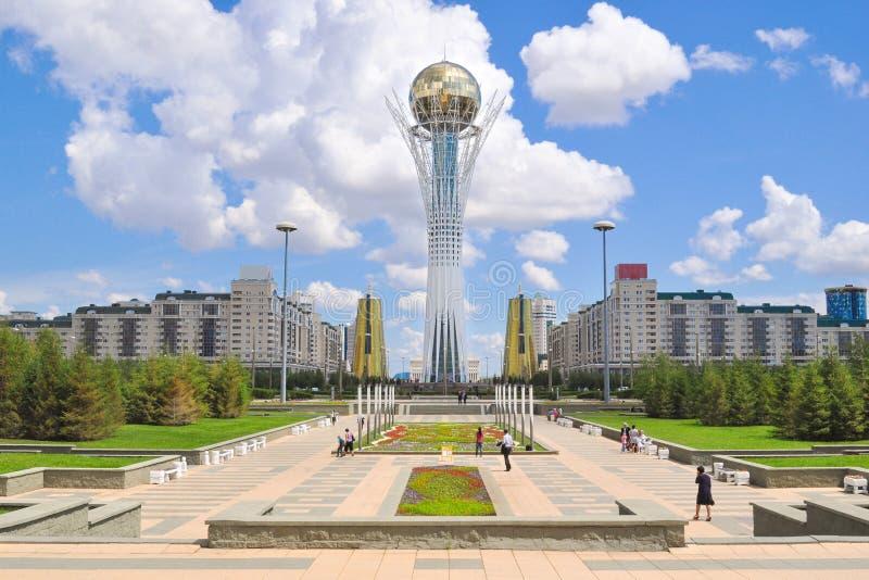 Huvudstad av Kasakhstan Nursultan arkivfoton