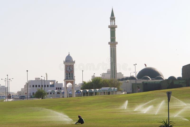 huvudstad doha qatar royaltyfri bild