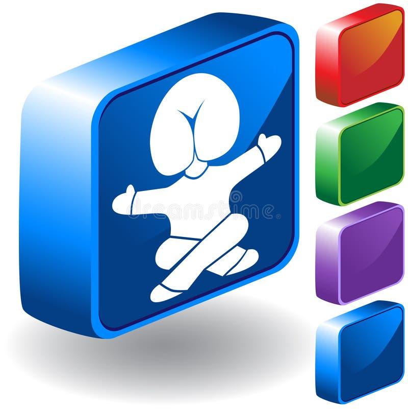 huvudsymbol för butt 3d vektor illustrationer
