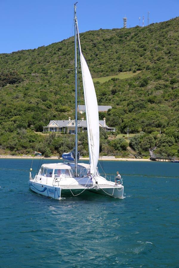 Huvudutforskare Catamaran Day Cruises royaltyfria foton