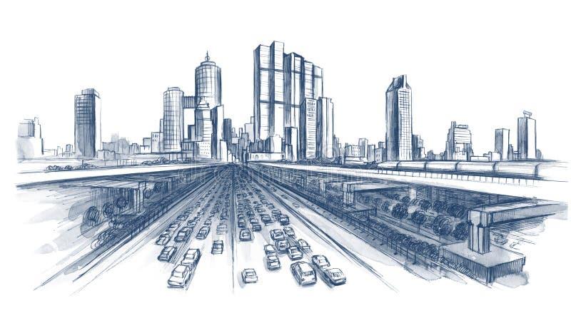 huvudväg vektor illustrationer