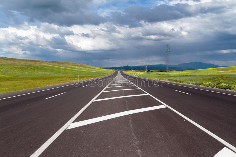 huvudväg arkivfoton