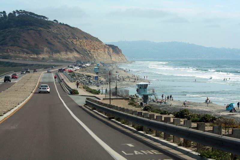 huvudväg för 101 Kalifornien arkivfoto