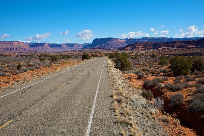 huvudväg för 211 canyonlands arkivbilder
