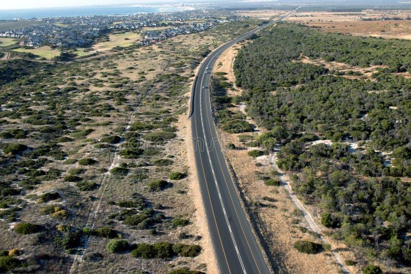 Huvudväg för N7 Westcoast i Sydafrika arkivbild