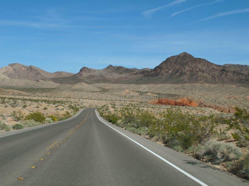 Huvudväg i sjön Mead National Recreation Area, Nevada fotografering för bildbyråer