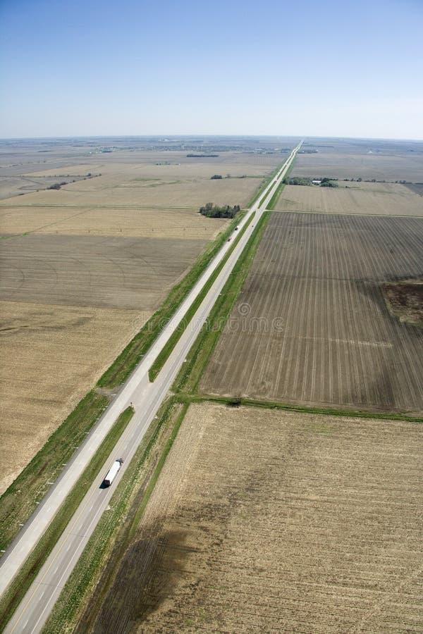 huvudväg lantliga USA royaltyfri foto
