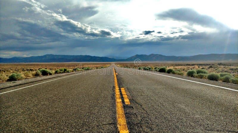 huvudväg nevada arkivfoton