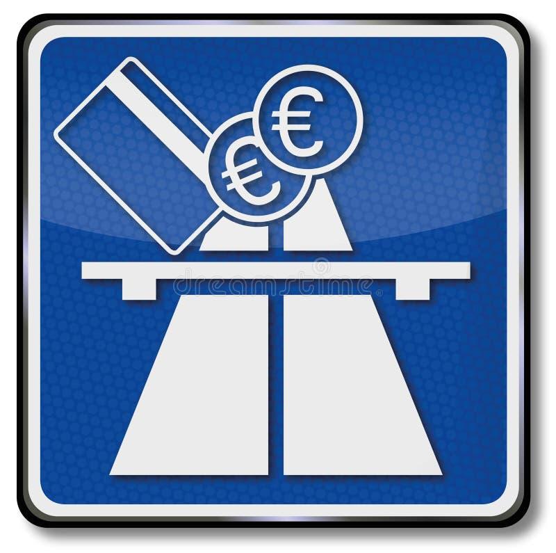 Huvudväg- och för avgiftväg avgifter vektor illustrationer