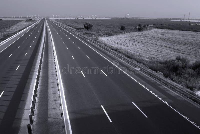 Huvudväg som ses från över arkivbild