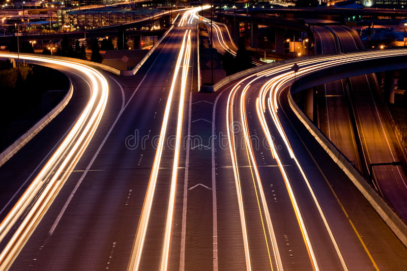 huvudvägar seattle royaltyfri bild