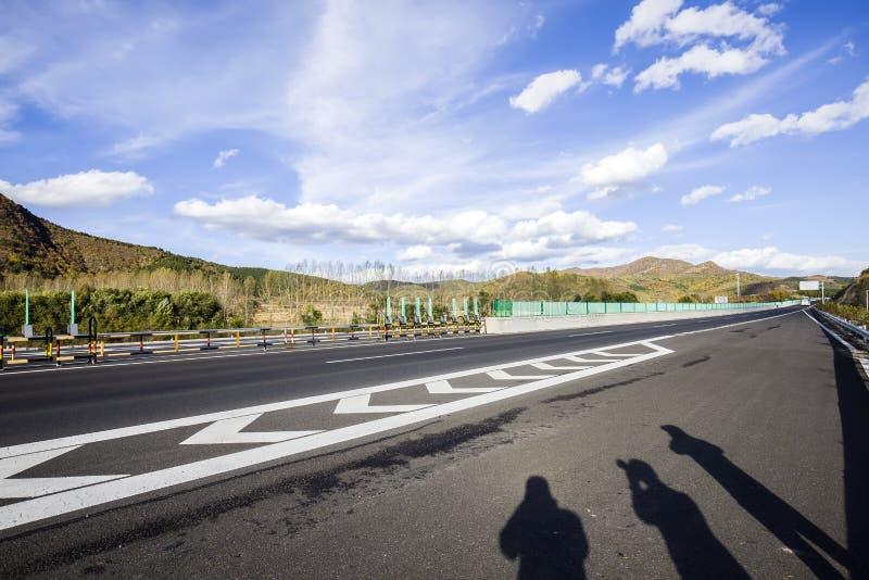 Huvudvägen arkivbild