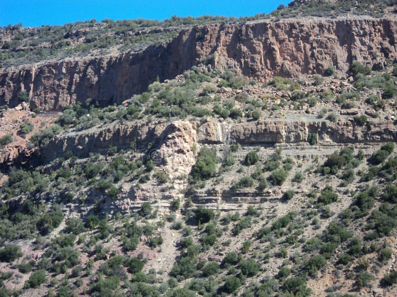 Huvudvägen i berg arkivfoton
