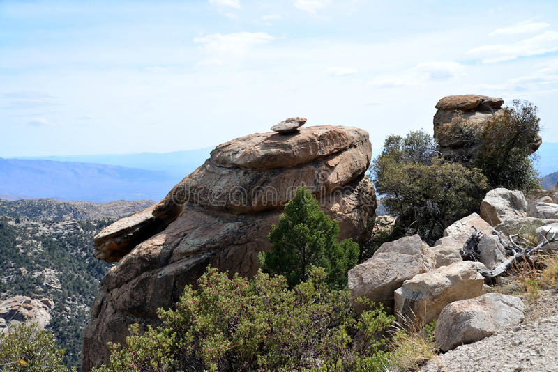 Huvudvägen till Mt Lemmon i Arizona royaltyfri bild