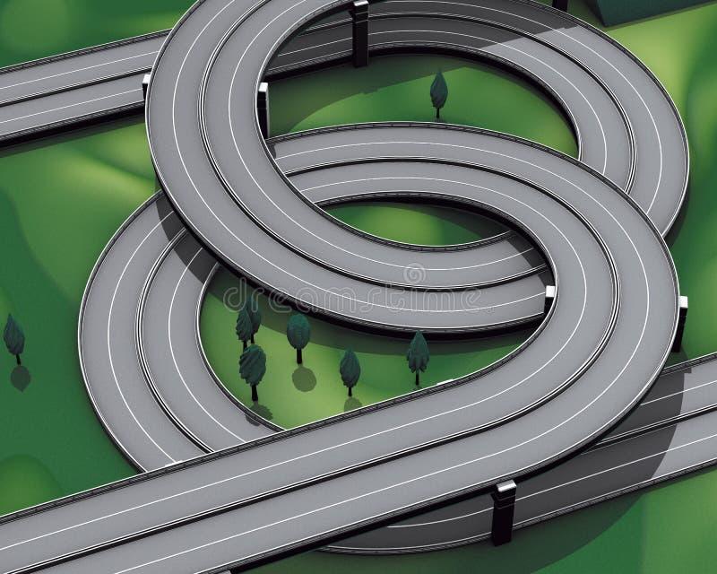 huvudvägföreningspunktmotorway stock illustrationer