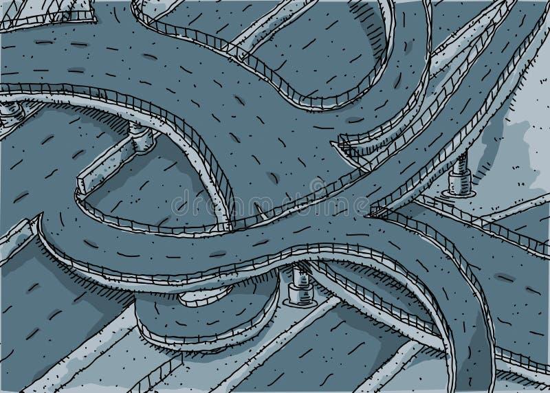 Huvudväggenomskärning stock illustrationer
