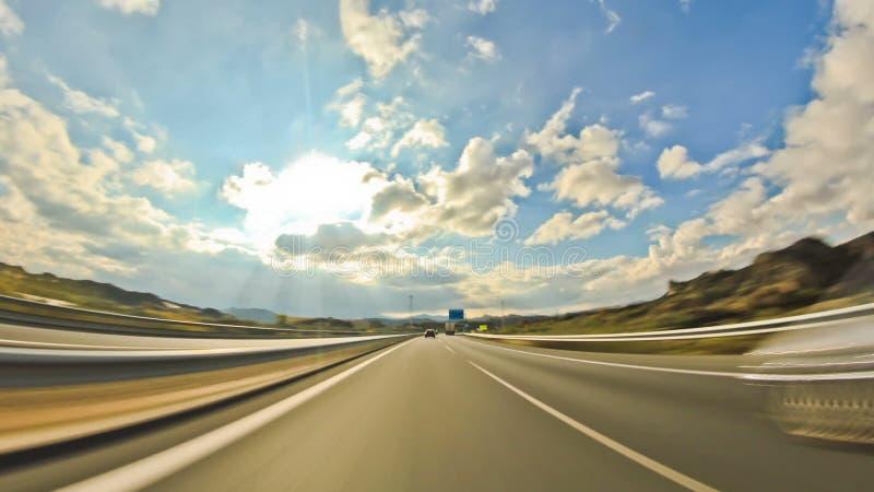 Huvudvägkörning lager videofilmer