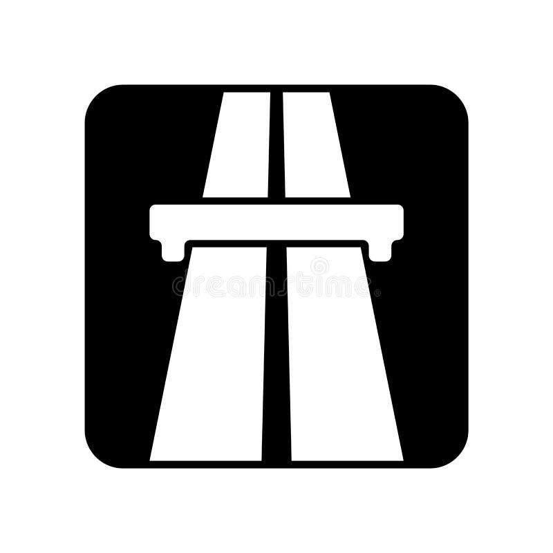 Huvudvägsymbolsvektor som isoleras på vit bakgrund, huvudvägtecken vektor illustrationer