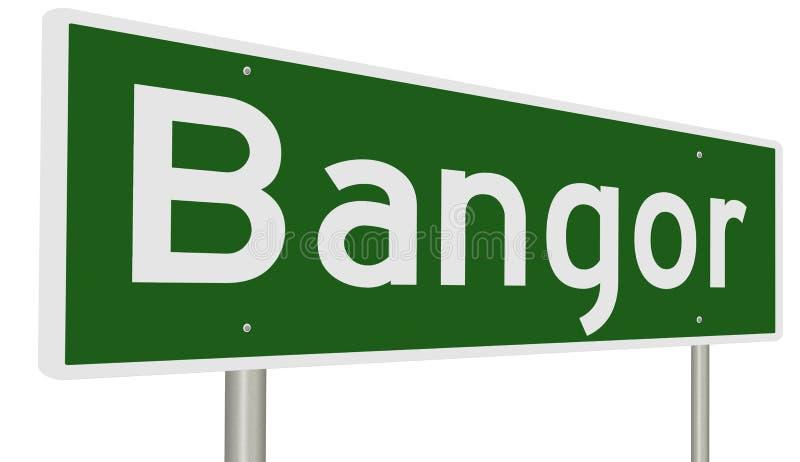 Huvudvägtecken för Bangor Maine vektor illustrationer