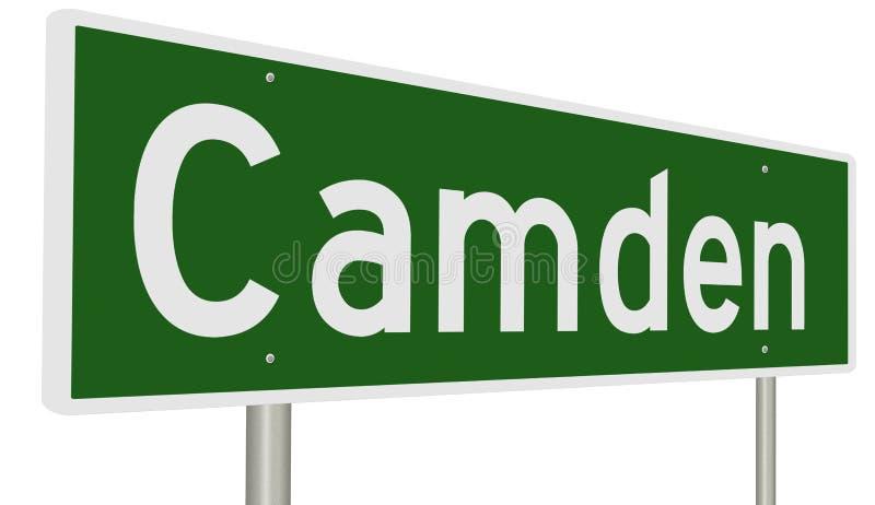 Huvudvägtecken för Camden New Jersey vektor illustrationer