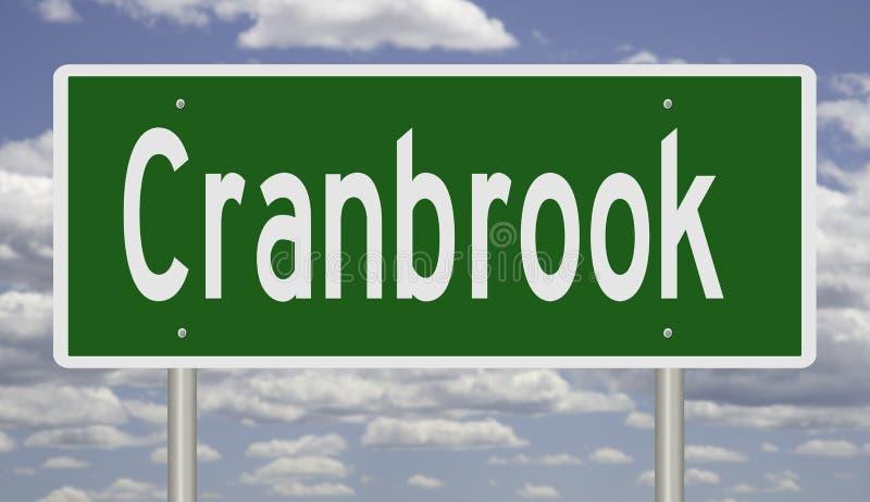 Huvudvägtecken för Cranbrook British Columbia royaltyfria bilder