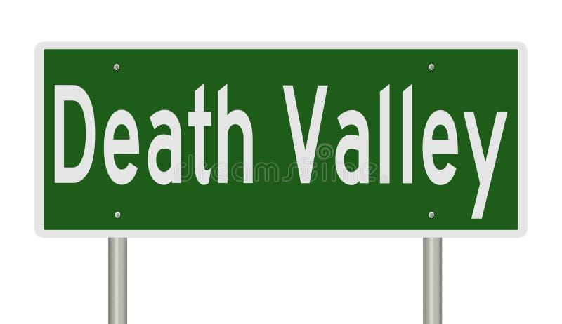 Huvudvägtecken för Death Valley Kalifornien vektor illustrationer