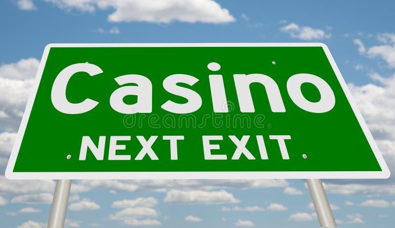 Huvudvägtecken för kasino royaltyfri fotografi