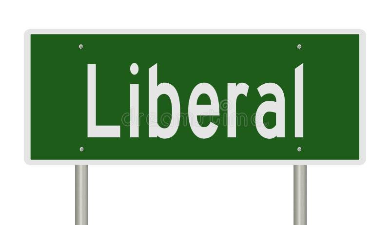 Huvudvägtecken för liberal person arkivbild