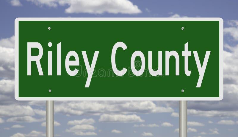 Huvudvägtecken för Riley County royaltyfri bild