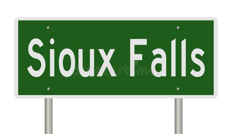 Huvudvägtecken för Sioux Falls South Dakota royaltyfri illustrationer