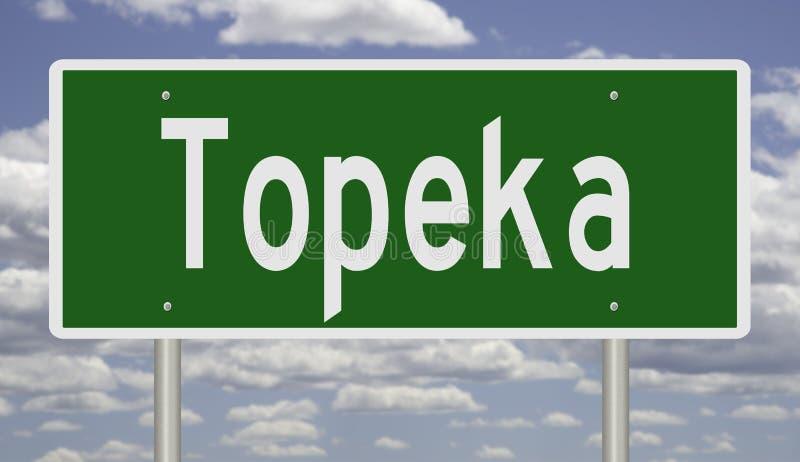 Huvudvägtecken för Topeka Kansas arkivbilder