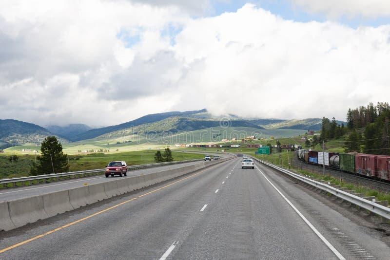huvudvägtrafikdrev royaltyfri foto