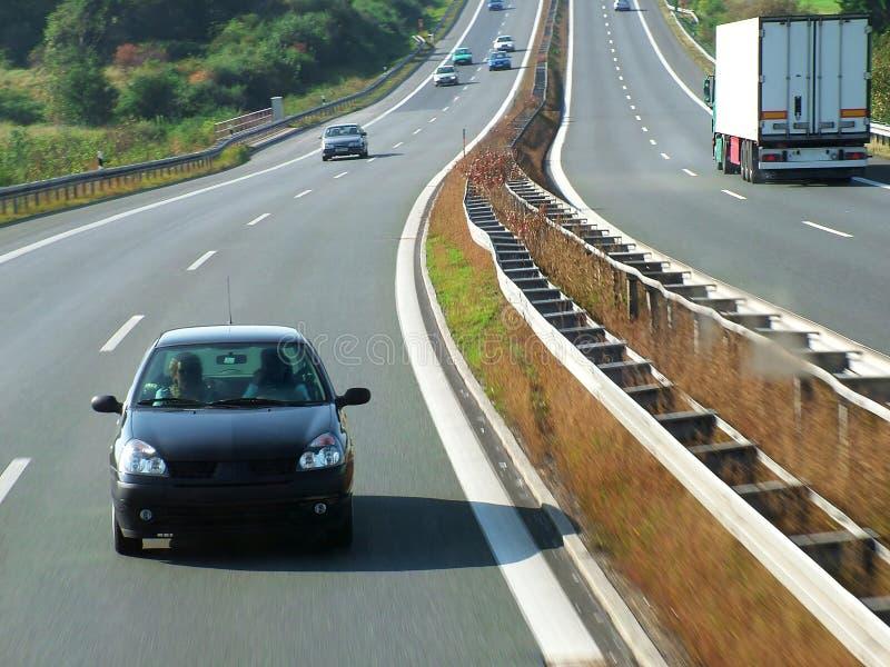 huvudvägtransport arkivfoto