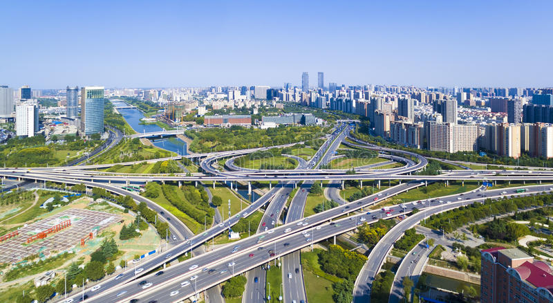Huvudvägzhengzhou porslin royaltyfri fotografi