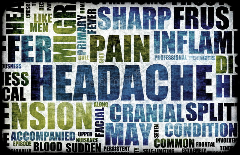 huvudvärk vektor illustrationer
