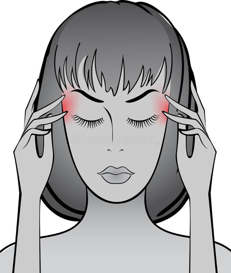 huvudvärk stock illustrationer