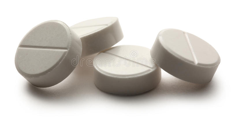 Huvudvärkstablettpreventivpillerar arkivbild