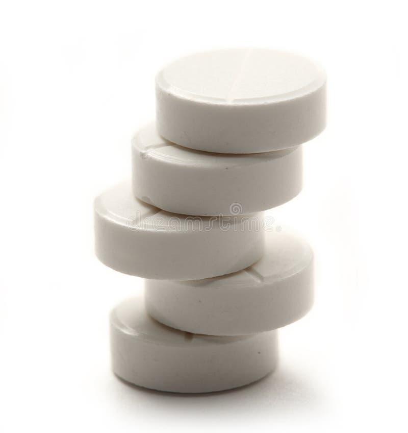 Huvudvärkstablettpreventivpillerar arkivfoto
