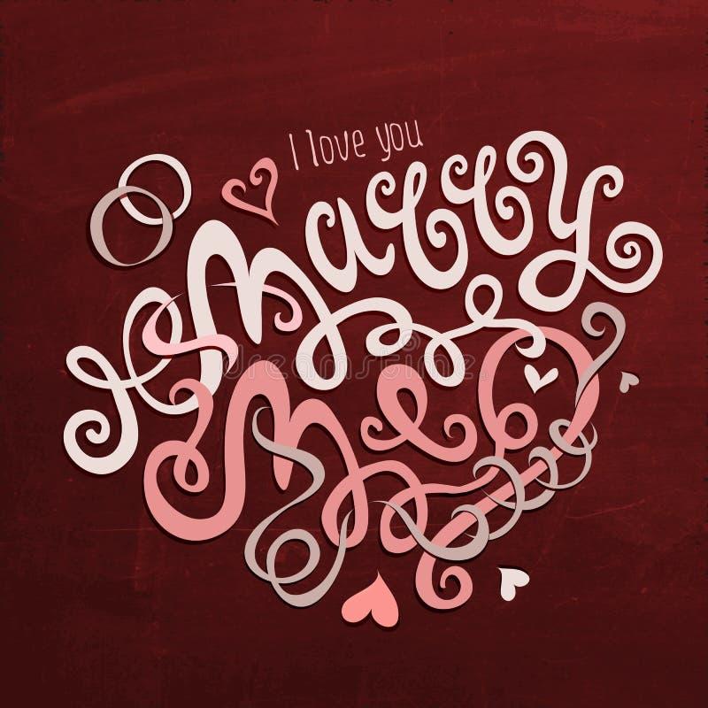 Huw me hand het van letters voorzien vector illustratie