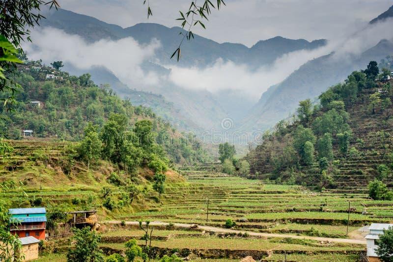 Huwas谷,杜罗村庄尼泊尔 免版税库存图片