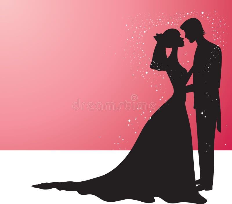 Huwelijk stock illustratie