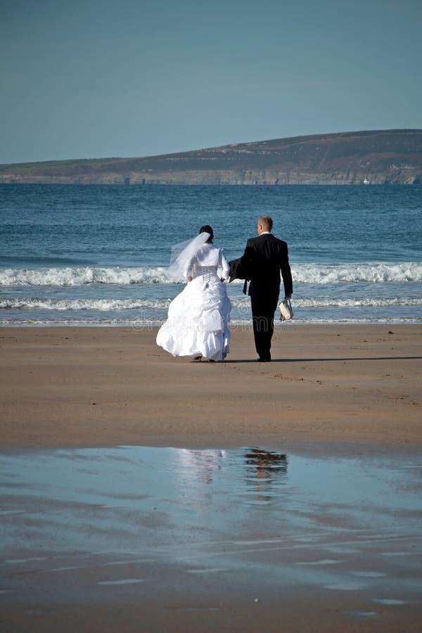 Huwelijk bij het overzees royalty-vrije stock fotografie