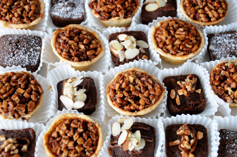 Huwelijk brownies royalty-vrije stock fotografie