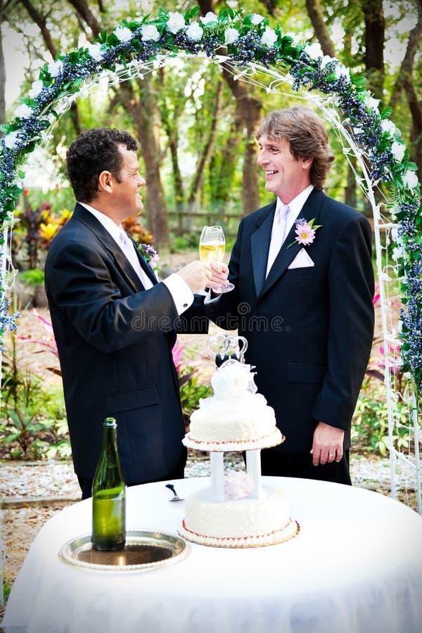 Huwelijk Champagne Toast royalty-vrije stock foto's